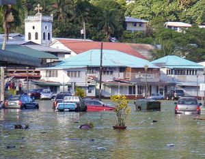 The main downtown area in Fagatogo was underwater in 2009.