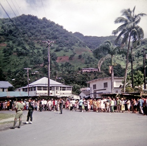 Downtown Fagatogo just before a parade broke out. There were LOTS of parades.