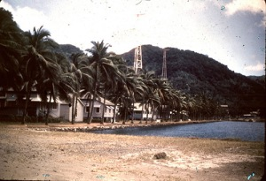 Centipede Row, which was very close to the school, shows how close the harbour was tot he buildings. This picture is actually from 1948, taken by Dr. Jim Harris, and can be found at  http://jmflanigan.smugmug.com