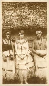 Margaret Mead (center) in Samoa.