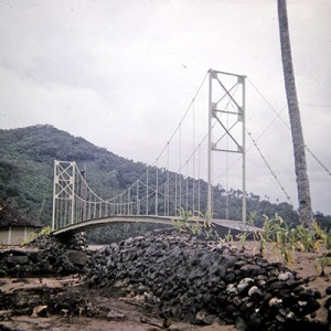 The NEW bridge at Aoa, built after the hurricane washed the old one away.