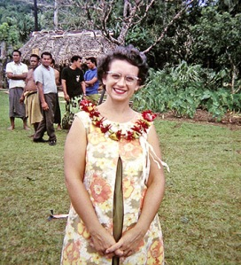 Jean delighted in her tropical wardrobe - girdles were unnecessary and you couldn't wear stockings with thongs.
