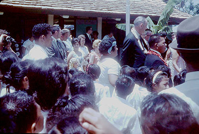 President Johnson in American Samoa.